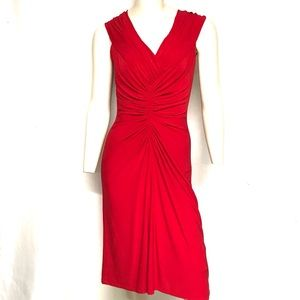 Tadashi lipstick red dress